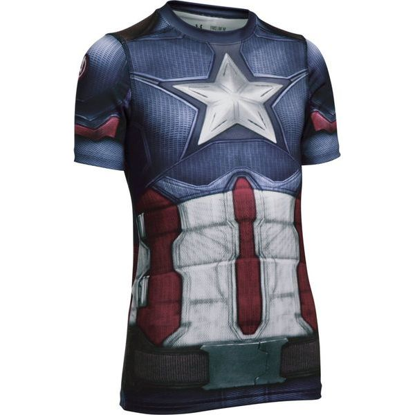 588288514d6e70 Under Armour Koszulka Captain America Suit Ss Midnight Navy White Ym ...