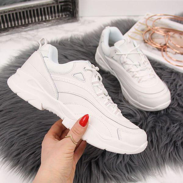 Buty sportowe skórzane damskie białe Filippo biały