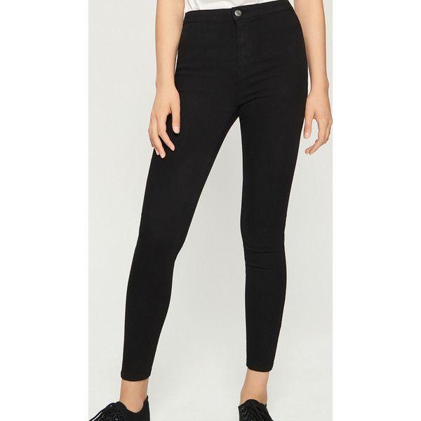 e26972ca490bf7 Jeansy skinny high waist - Czarny - Czarne jeansy damskie Sinsay, z ...