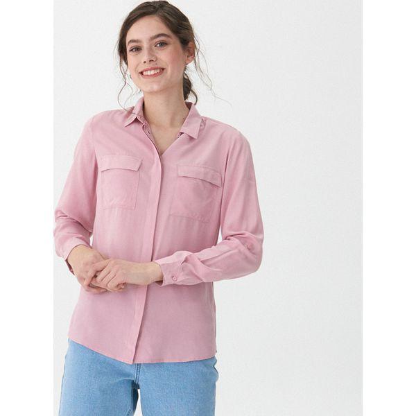 f8a2684846f0e1 Koszula z kieszeniami - Różowy - Koszule damskie House. W wyprzedaży ...