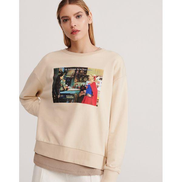 Bluza z nadrukiem Friends Kremowy