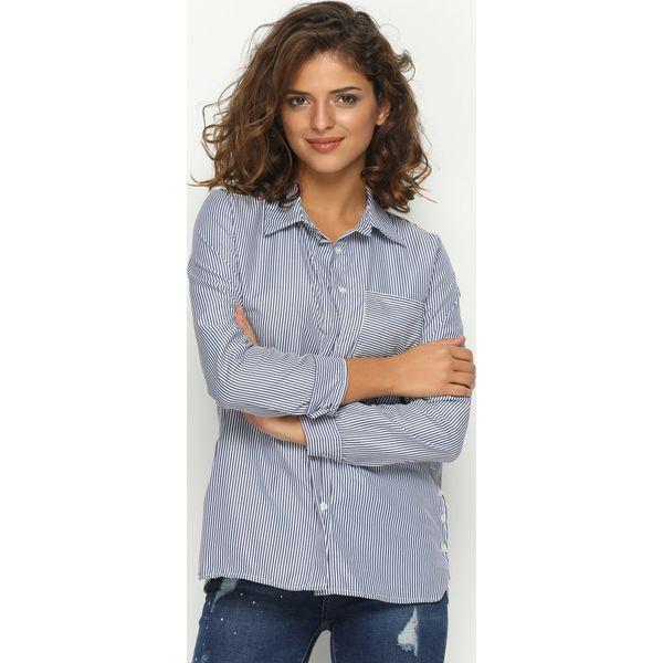 65f13b7af58bc0 Granatowa Koszula Infinity - Koszule damskie Born2be. Za 99.99 zł ...