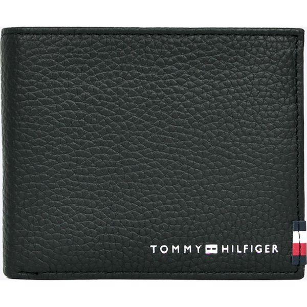 68321964bbf01 Tommy Hilfiger - Portfel skórzany - Czarne portfele męskie marki Tommy  Hilfiger