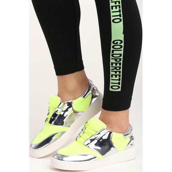 Limonkowe Buty Sportowe Glen