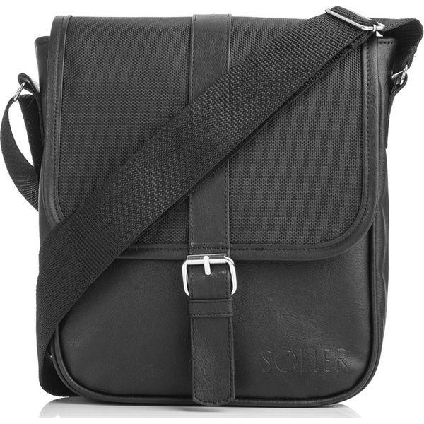 cf50d98c0fb51 Solier - Torba - Czarne torby na ramię męskie marki Solier