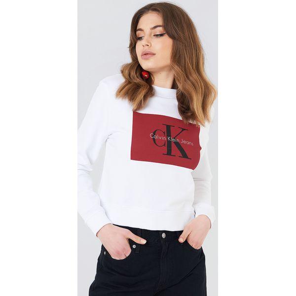 0e63cf7426088 Calvin Klein Bluza Hebe True Icon - White - Bluzy damskie marki ...