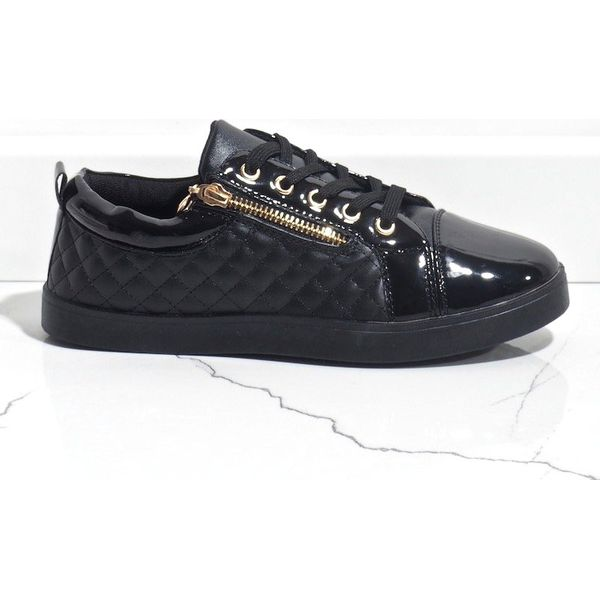 Factory Price Szare buty sportowe textile Diamonds z metaliczną nitką