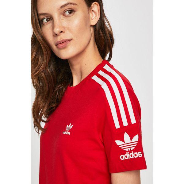 t shirt damski czerwony adidas