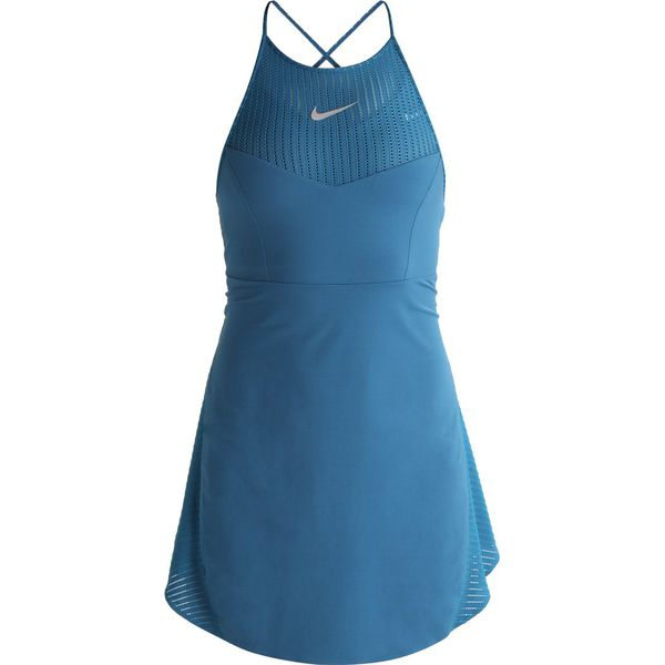 1078f7f89e Nike Performance MARIA Sukienka sportowa blue force metallic silver ...