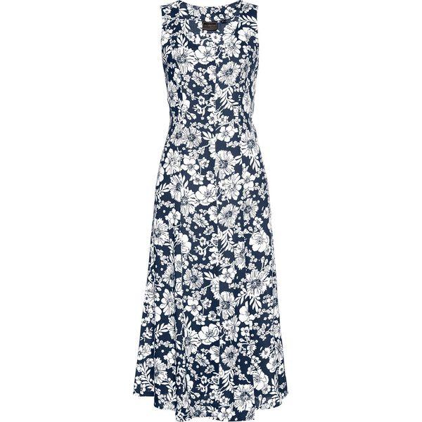adad2eb64c Sukienka z wiskozy bonprix ciemnoniebiesko-biały z nadrukiem ...