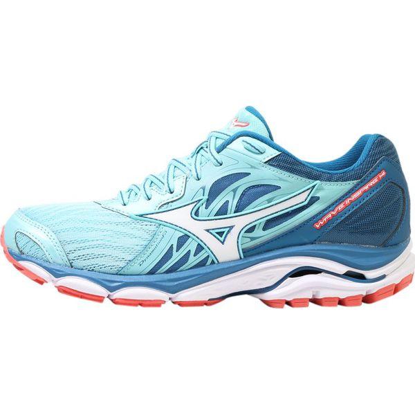d72b610e Mizuno WAVE INSPIRE 14 Obuwie do biegania Stabilność aqua splash/white/blue  sapphire - Niebieskie obuwie sportowe damskie marki Mizuno, z materiału, ...