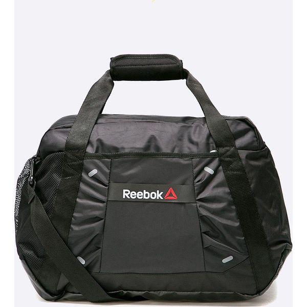 53d9aeef087c8 Reebok - Torba - Czarne torby sportowe męskie marki Reebok, w paski, z  materiału, na ramię. W wyprzedaży za 129.90 zł. - Torby sportowe męskie -  Torby ...
