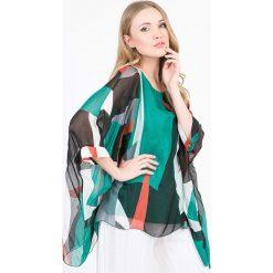 43c411921a Jedwabna tunika ze wzorem. Zielone tuniki damskie marki Scherrer Soie