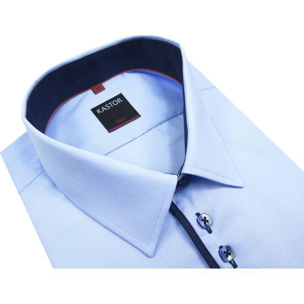 Błękitna koszula z krótkim rękawem Kastor K71