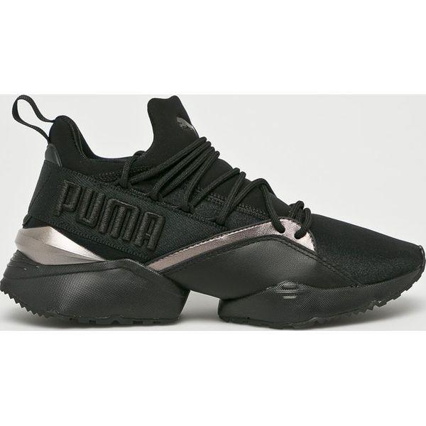 d0b3657d3abac Puma - Buty Muse Maia Luxe - Czarne obuwie sportowe damskie marki ...