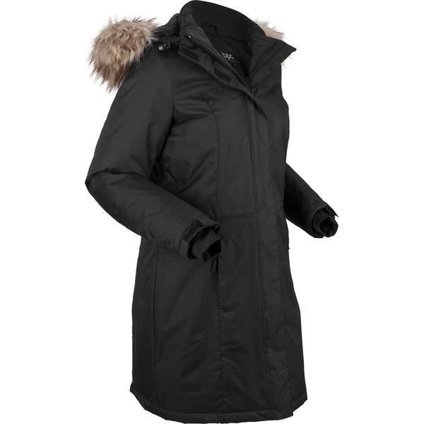 b9cb129b56e48 Ciepły płaszcz funkcyjny ze sztucznym futerkiem bonprix czarny ...