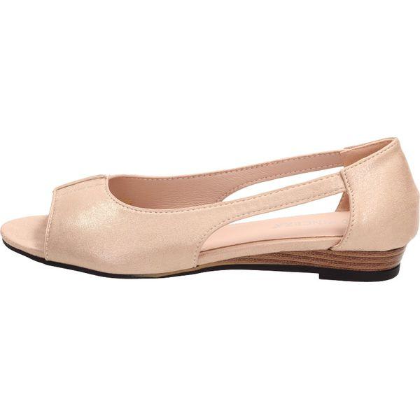 Złote sandały damskie VINCEZA 17067 KOTURN