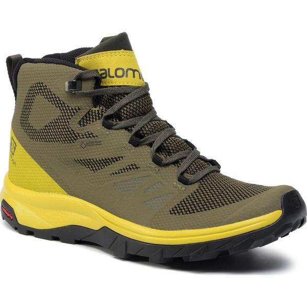 Trekkingi SALOMON Outward Gtx GORE TEX 409579 32 V0 PeatBlackBurnt Olive