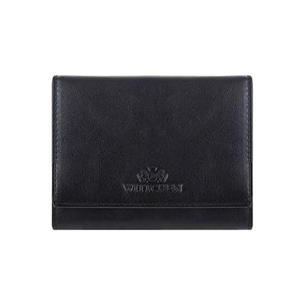 ec6cbc154f3d4 Skórzany portfel w kolorze czarnym - (S)12 x (W)9 cm - Portfele ...