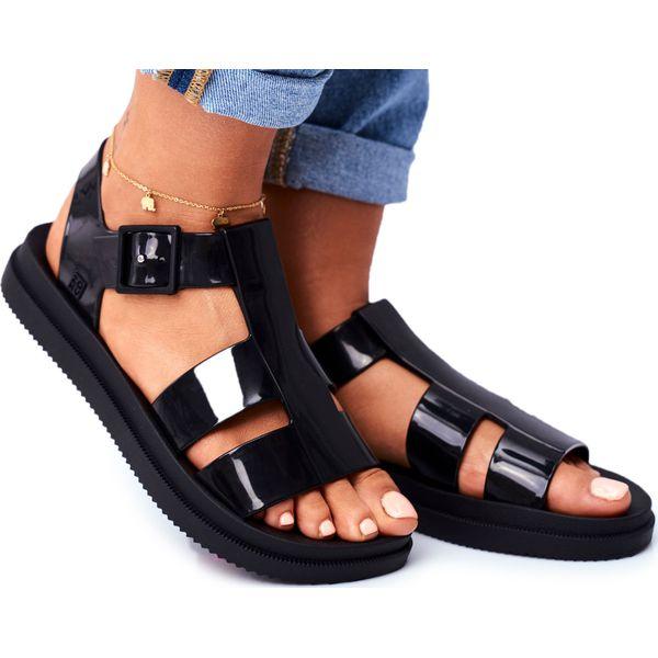 Damskie Sandały Pachnące Gumowe ZAXY Czarne FF285024