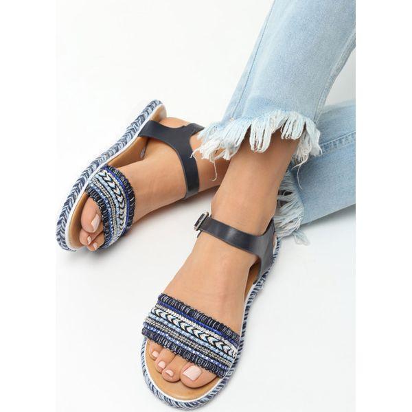47c51e6c Granatowe Sandały Blessings - Niebieskie sandały damskie Born2be, z ...