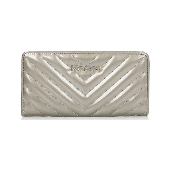 e7daf902c6383 Skórzany portfel w kolorze srebrnym - (S)19 x (W)10 cm - Portfele ...