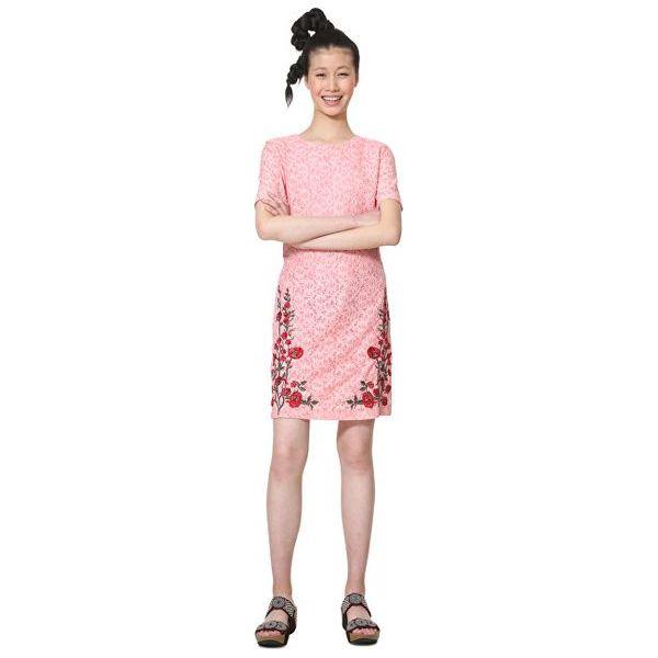 8880a17c3a Desigual Sukienka Damska Vest Nakato Coral 19Swvw79 7019 (Rozmiar 42 ...