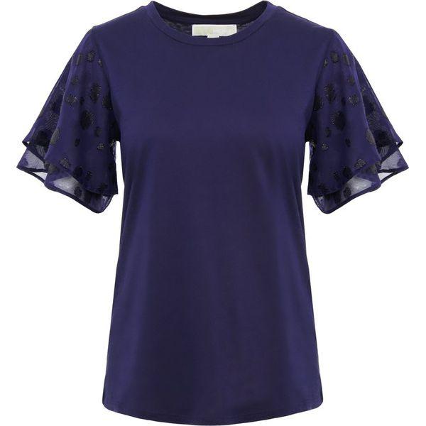 d680bd5a646c7 MICHAEL Michael Kors BURNOUT Tshirt z nadrukiem true navy - T-shirty ...