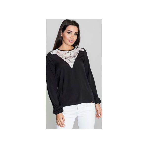 Figl M485 bluzka czarna Bluzki i Koszule damskie