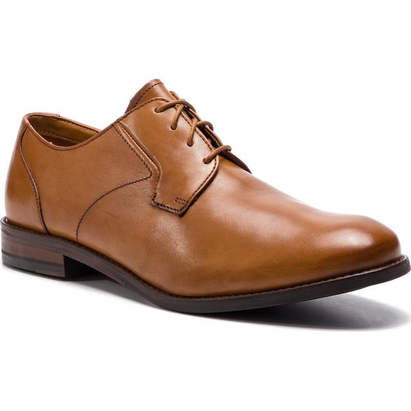 Półbuty CLARKS Edward Plain 261395367 Tan Leather
