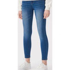 94992e4e003a7c Jeansy skinny z niskim stanem - Niebieski. Niebieskie jeansy damskie Sinsay,  bez wzorów,