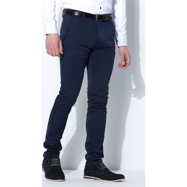 14c4554e56 Granatowe Spodnie Deployment - Szare eleganckie spodnie męskie ...