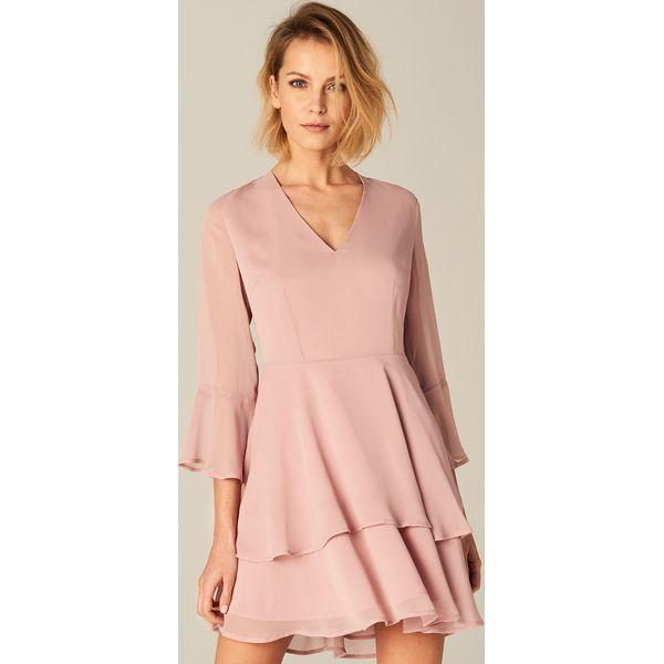 2aadb360 Rozkloszowana sukienka - Różowy