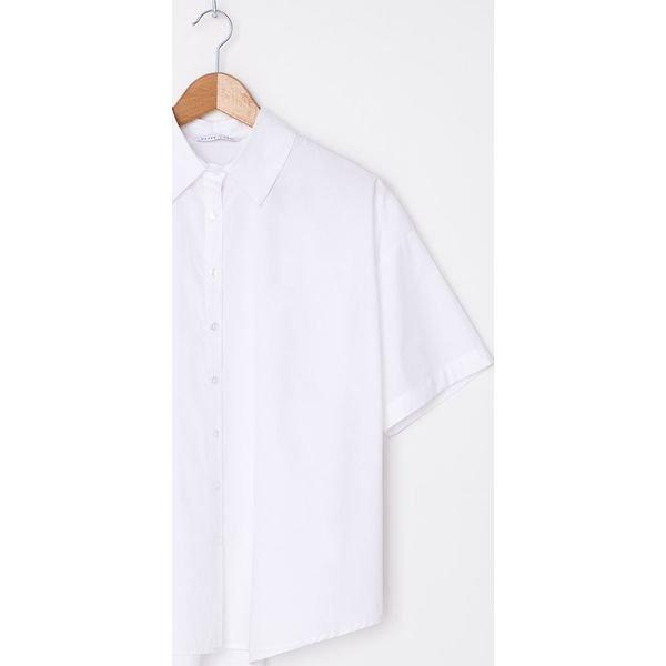 Biała koszula oversize Biały Białe koszule damskie House  XFzHb