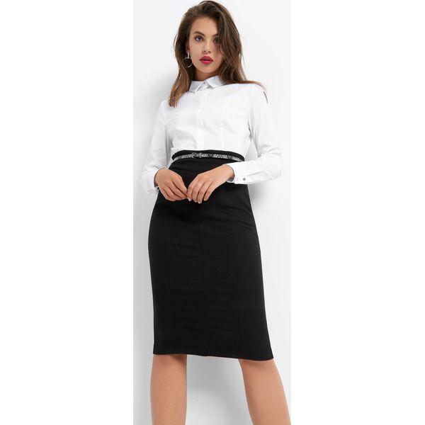 2136bf3d68 Ołówkowa sukienka z paskiem - Czarne sukienki damskie marki Orsay ...