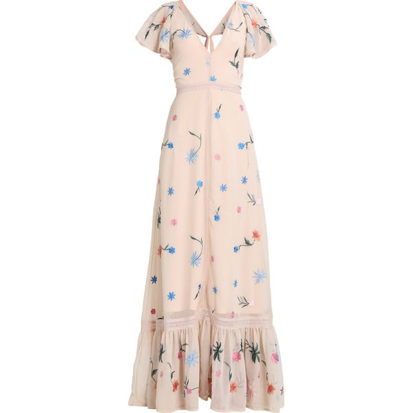 3b78a08913eaaf Glamorous Długa sukienka nude - Szare sukienki damskie marki ...