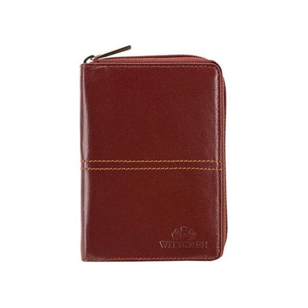 d640f5122b748 Skórzany portfel w kolorze brązowym - (S)10,5 x (W)15 x (G)2 cm ...
