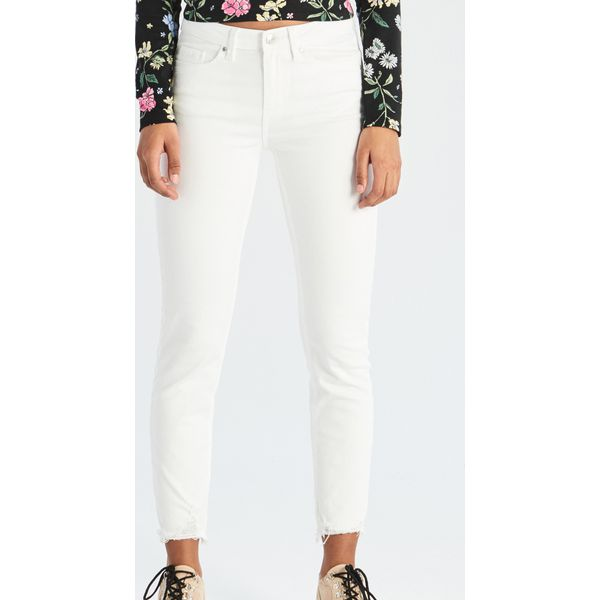 ab1f2369 Jeansy skinny ze średnim stanem - Biały
