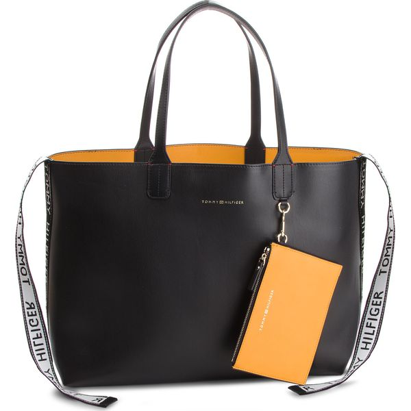 d088297fe553d Torebka TOMMY HILFIGER - Iconic Tommy Tote AW0AW05640 002 - Czarne ...