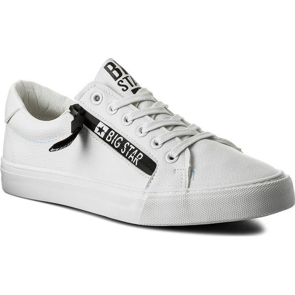 8acfd3a453 Tenisówki BIG STAR - AA174285A White - Białe trampki męskie marki ...