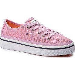 b0ebe75a7a032 Tenisówki TOMMY HILFIGER - Jacquard Flatform Sneaker FW0FW04071 Pink  Lavender 518. Trampki i tenisówki damskie