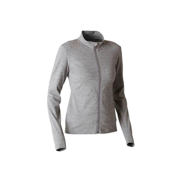 9f6fe8aca70744 Bluza na zamek Gym & Pilates 100 damska - Czarne bluzy damskie ...