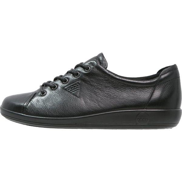 d0444f2d ecco SOFT 2.0 Sznurowane sportowe black - Czarne obuwie sportowe ...