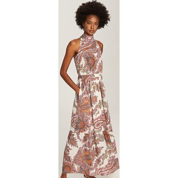 9ec4e57923 Sukienka maxi - Wielobarwn - Szare sukienki damskie marki Reserved ...