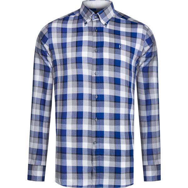 d07c7bbb4b1e3c Koszula CONTE OF FLORENCE OREGON CHECK - Niebieskie koszule męskie ...
