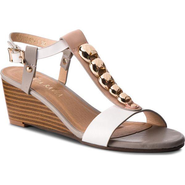bcb55b9759687 Sandały VIA RAVIA - WS17052-1 Biały - Białe sandały damskie marki ...