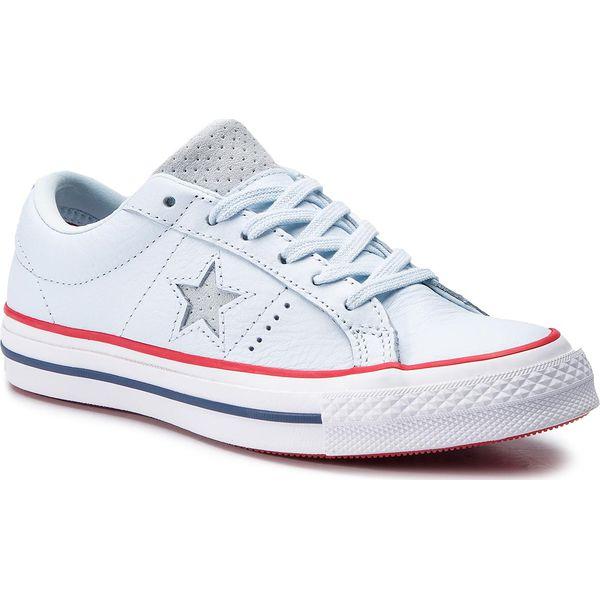 173e9a60b4539 Tenisówki CONVERSE - One Star Ox 160626C Blue Tint/Gym Red/White ...