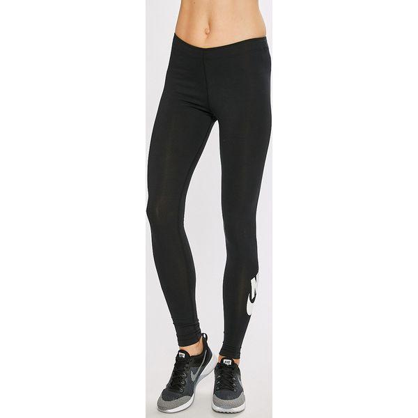 69f14c8ab Nike - Legginsy - Czarne legginsy damskie Nike, z nadrukiem, z ...
