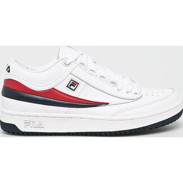 92a776c6 Fila - Buty T1 Mid - Białe buty sportowe męskie Fila, bez wzorów, z ...