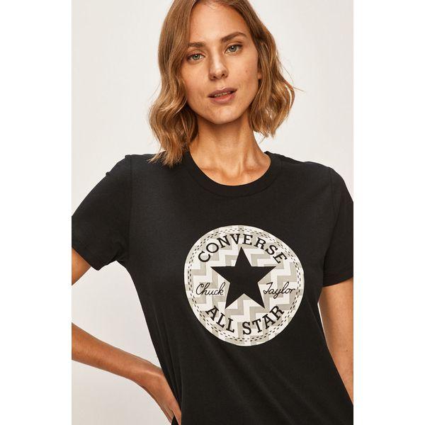 Converse T shirt Czarne t shirty damskie Converse, s, z